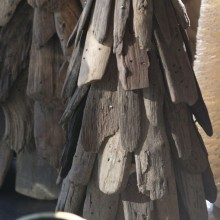 driftwood trees, mercury votive