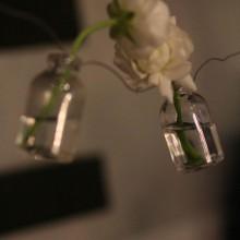 hanging vase garland