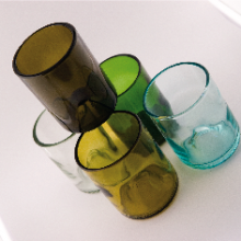 recycled wine put glasses!