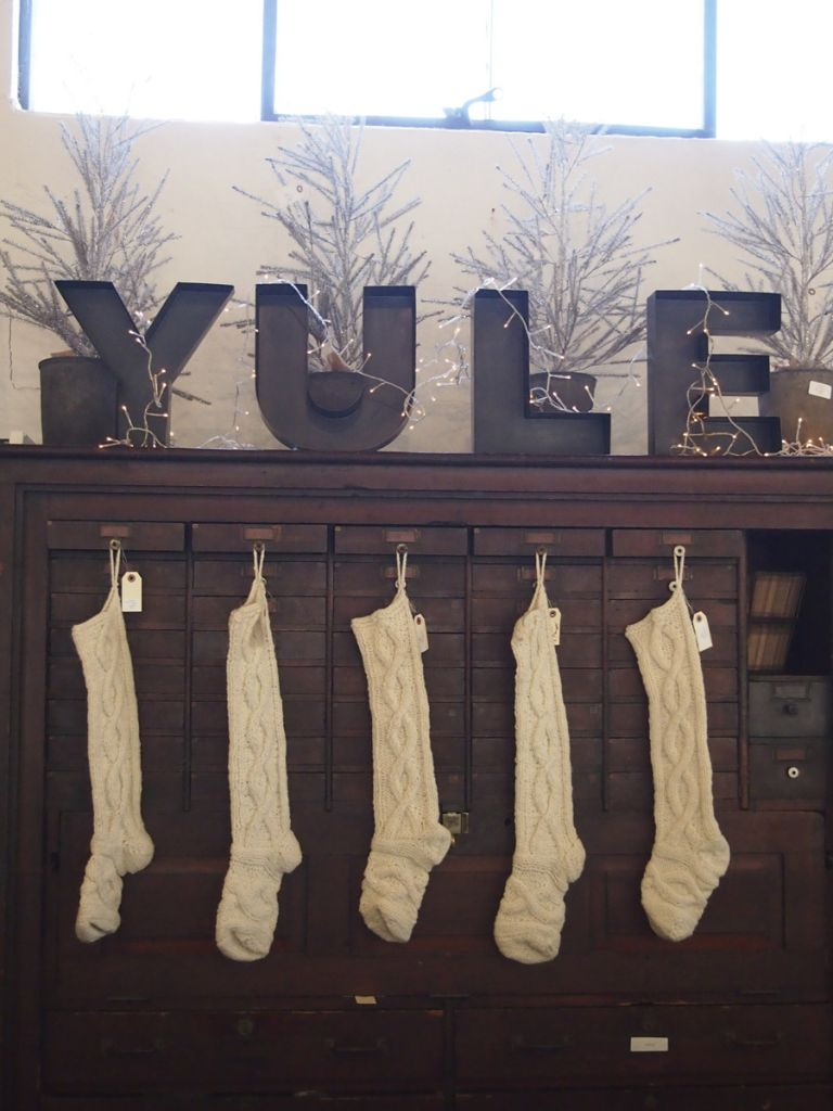 yule letters & hand knit stockings